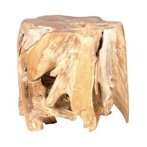 Záhradný konferenčný stolík z teakového dreva Massive Home Limb, ⌀ 45 cm