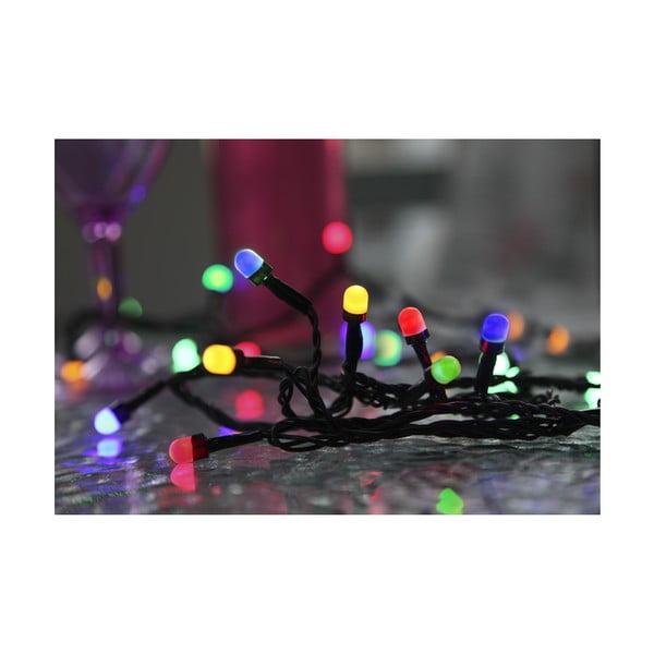 Vonkajšia svetelná party LED reťaz s farebnými diódami Best Season, 40 svetielok