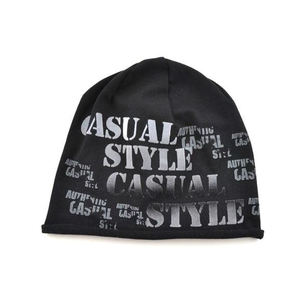 Unisex čapica Casual, čierna
