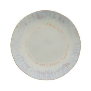 Biely kameninový tanier Costa Nova Brisa, ⌀ 26,5 cm