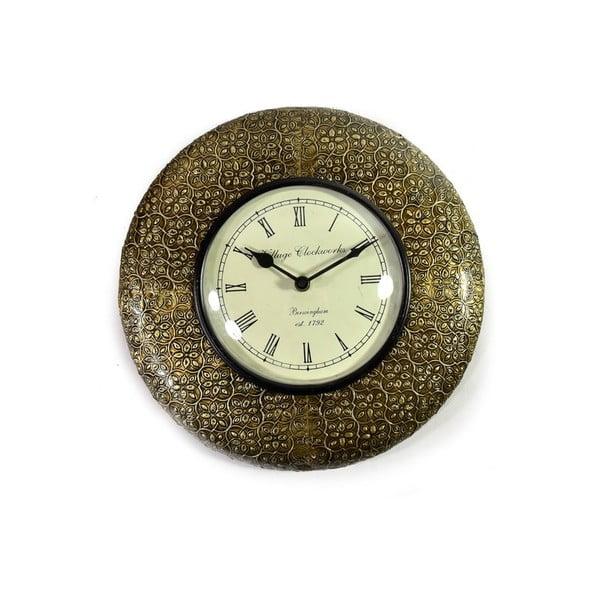 Nástenné hodiny z tepaného kovu Bihár, 32 cm