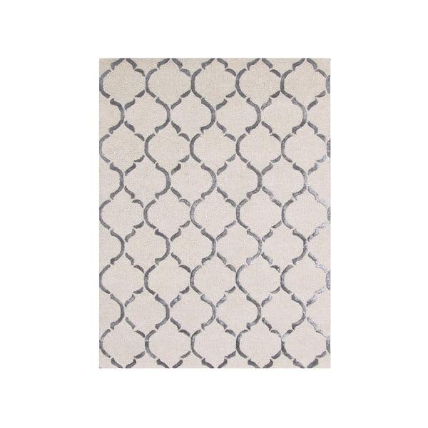 Ručne tuftovaný strieborný koberec Chain, 153x244cm
