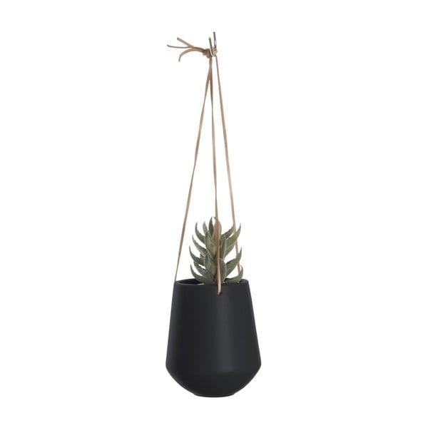 Čierny závesný kvetináč PT LIVING Skittle, ⌀13,5 cm