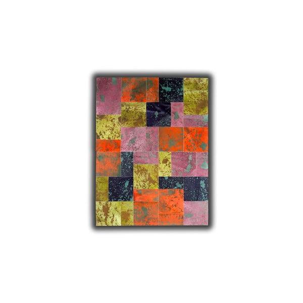 Koberec z pravej kože Acid Color, 140x200 cm