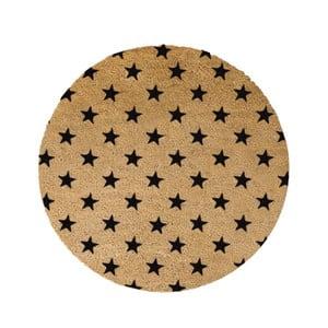 Guľatá rohožka Artsy Doormats Stars, ⌀ 70 cm