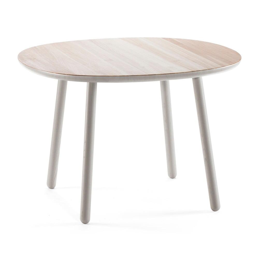 Sivý jedálenský stôl z masívu EMKO Naïve, 110 cm