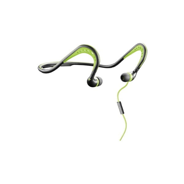 Čierno-zelené športové ergonomické slúchadlá CellularLine Scorpion