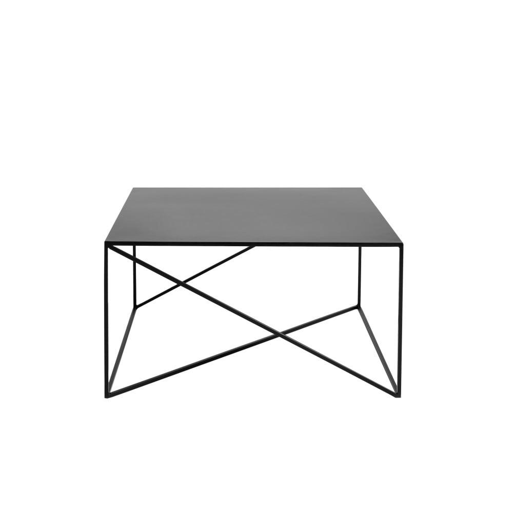 Čierny konferenčný stolík Custom Form Memo, 80 x 80 cm