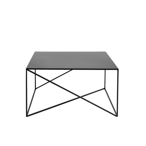 Čierny konferenčný stolík Custom Form Memo, šírka 80 cm