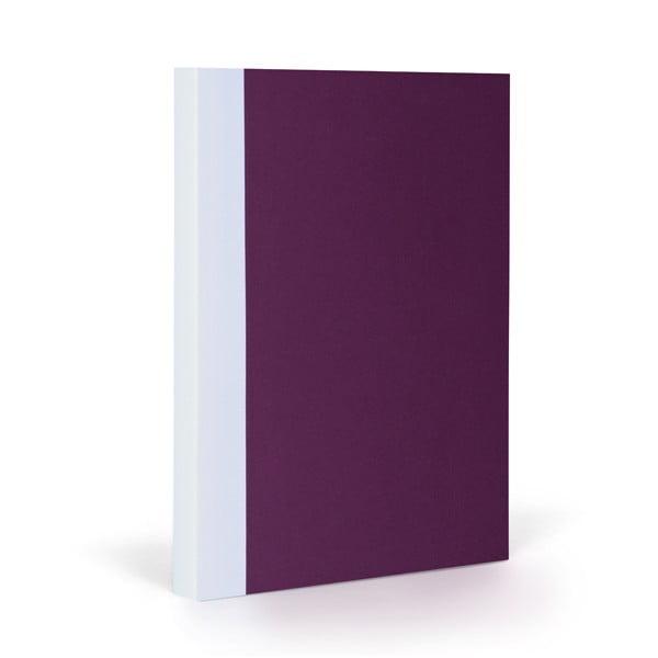 Zápisník FANTASTICPAPER A5 Aubergine/White, štvorčekový
