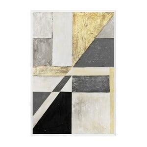 Nástenný ručne maľovaný obraz JohnsonStyle The Art Deco Geometry, 63 x 93 cm