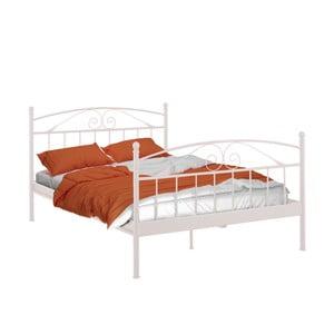 Biela dvojložková posteľ Støraa Bibi, 140 x 200 cm