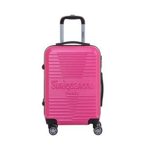 Ružový cestovný kufor na kolieskách s kódovým zámkom SINEQUANONE Rozalina, 44 l