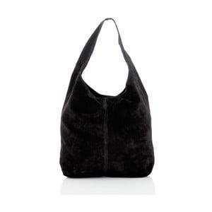 Čierna kožená kabelka Glorious Black Monique