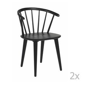 Sada 2 čiernych stoličiek Folke Carmen