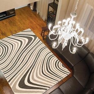 Koberec Webtappeti Reflex Brown Stripes, 80x150cm