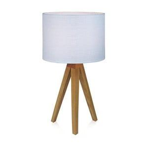 Biela stolová lampa Markslöjd Kullenu,44cm
