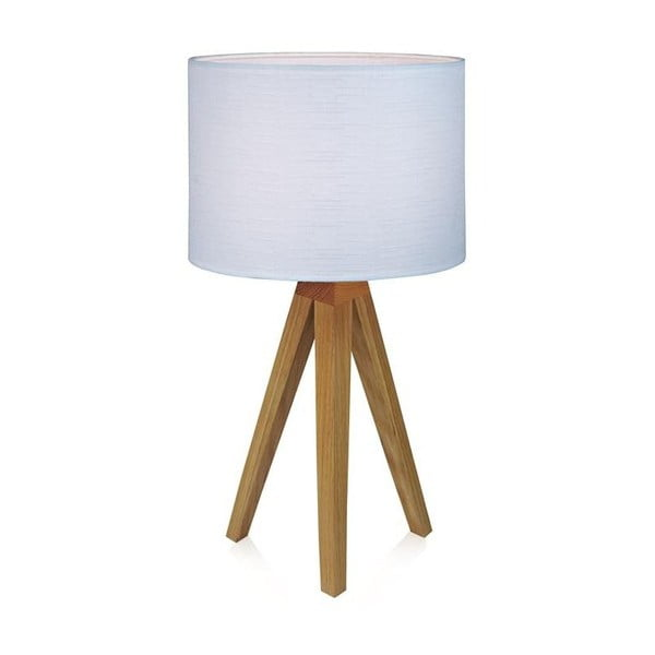 Biela stolová lampa Markslöjd Kullen, 44 cm