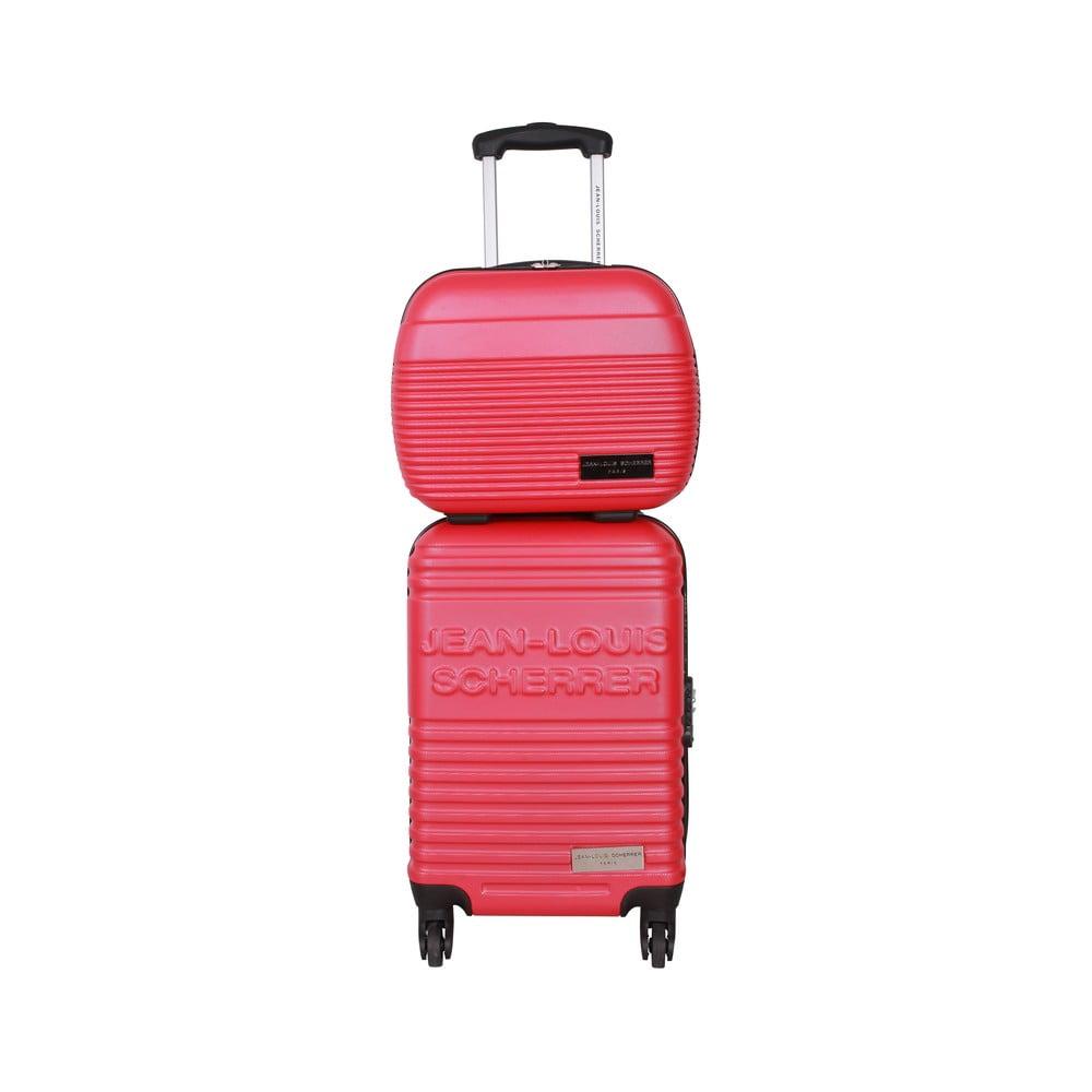 aab5a5ce0c2e8 Kufor s príručnou taškou Case Jean Louis Scherrer Red   Bonami