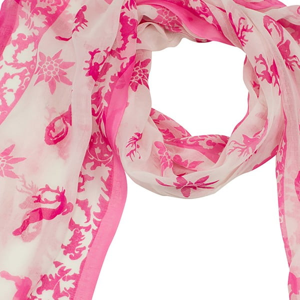 Ružová šatka Goldgeweih Leonie