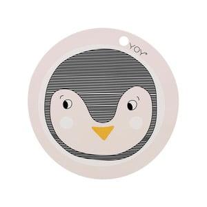 Detské silikónové prestieranie OYOY Penguin, ⌀ 39 cm