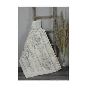 Krémová bavlnená kúpeľnová predložka My Home Plus Relax, 60×60 cm