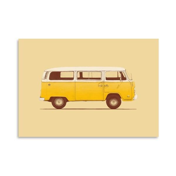 Plagát Yellow Van od Florenta Bodart, 30x42 cm