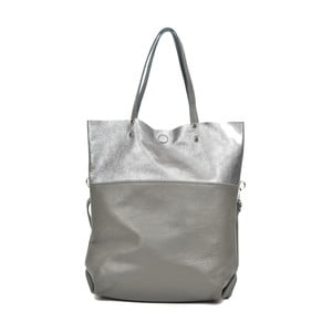 Sivá kožená kabelka Carla Ferreri Muserro