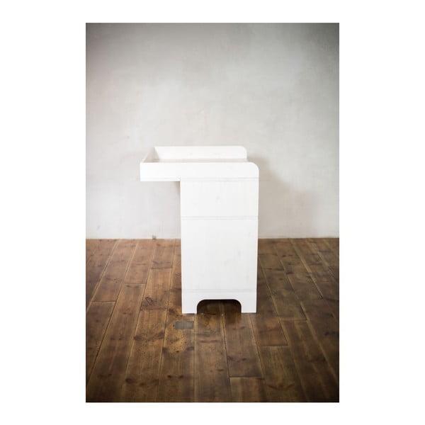 Prebaľovací pult s úložným priestorom Emo White
