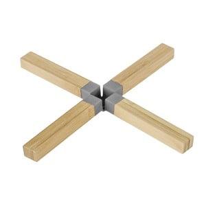 Bambusová podložka pod hrniec Cross Grey