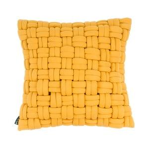 Žltý vankúš ZicZac Clusp, 45x45cm