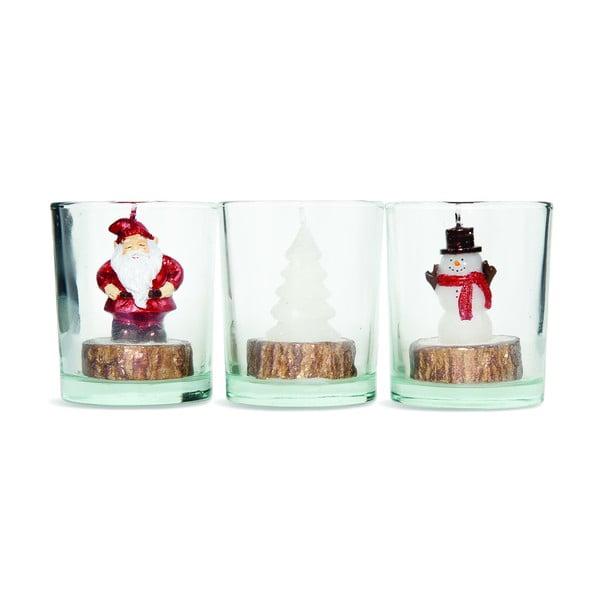 Sada 3 svietnikov Santa Tree