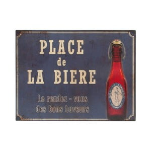 Plechová ceduľa Antic Line Place De La Biere