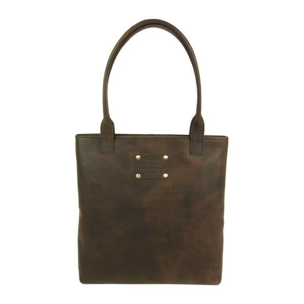 Kožená kabelka Posh Stacey midi, hnedá
