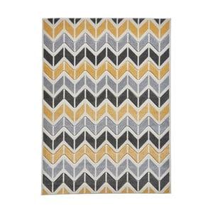 Žltosivý koberec Think Rugs Matrix Ziggy, 160 x 220 cm