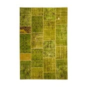 Vlnený koberec Allmode Patchwork Green, 200x140 cm