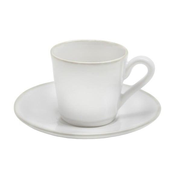 Biely keramický hrnček s tanierikom Costa Nova Astoria, 80 ml