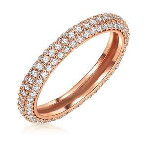 Dámsky prsteň vo farbe ružového zlata Runaway Nina, 56