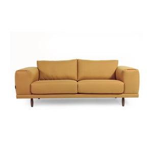 Žltá trojmiestna pohovka Charlie Pommier Relax