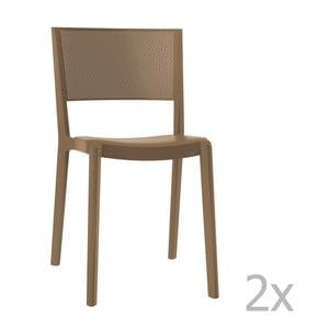 Sada 2 hnedých záhradných stoličiek Resol Spot