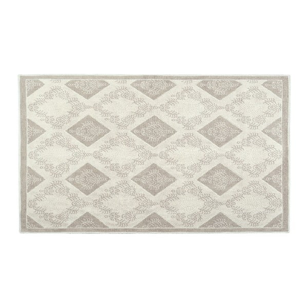 Krémový bavlnený koberec Floorist Fara, 150x80cm