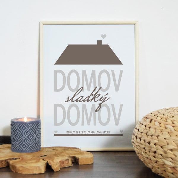 Obraz Domov, sladký domov, hnedý