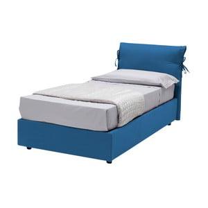 Modrá jednolôžková posteľ s poťahom z bavlnenej textílie 13Casa Iris, 90x190cm