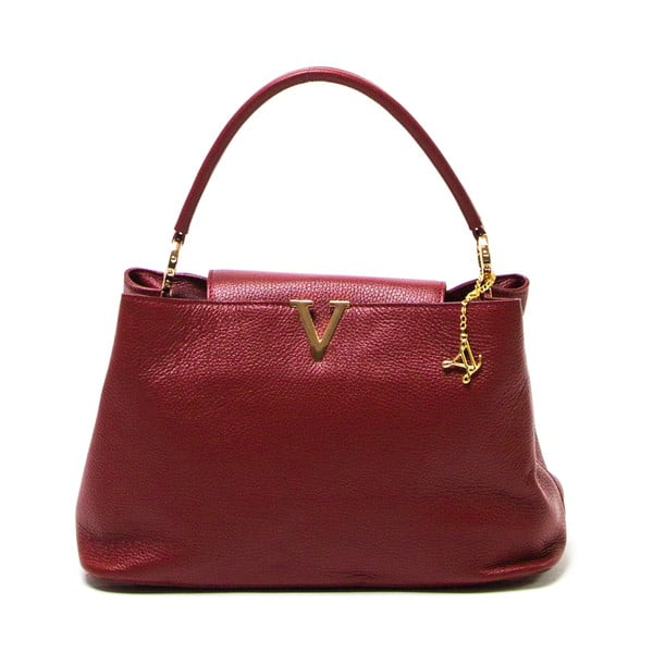 Kožená kabelka Luisa Vannini 1132 Rosso