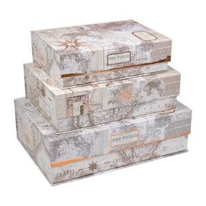 Sada 3 magnetických úložných boxov Tri-Coastal Design Trés Chic
