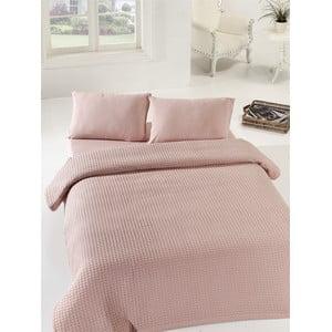 Prikrývka cez posteľ Dusty Rose, 160x240 cm