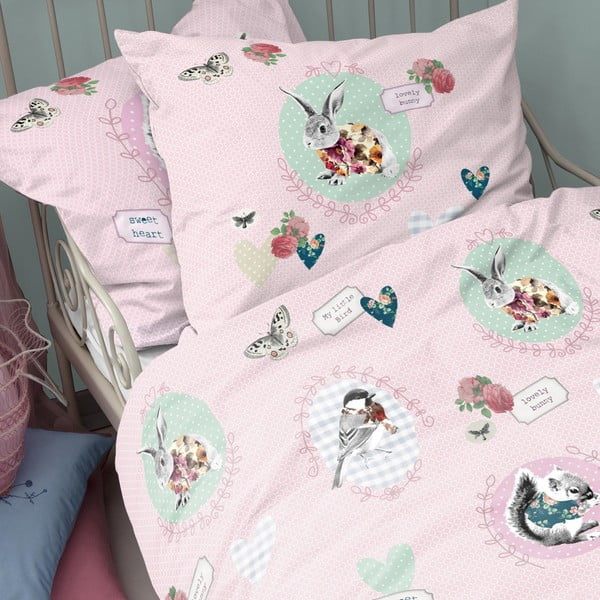 Obliečky Bunny Pink, 140x200 cm