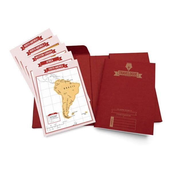 Sada pre cestovateľov - notes a zoškrabávacie mapy, červená edícia