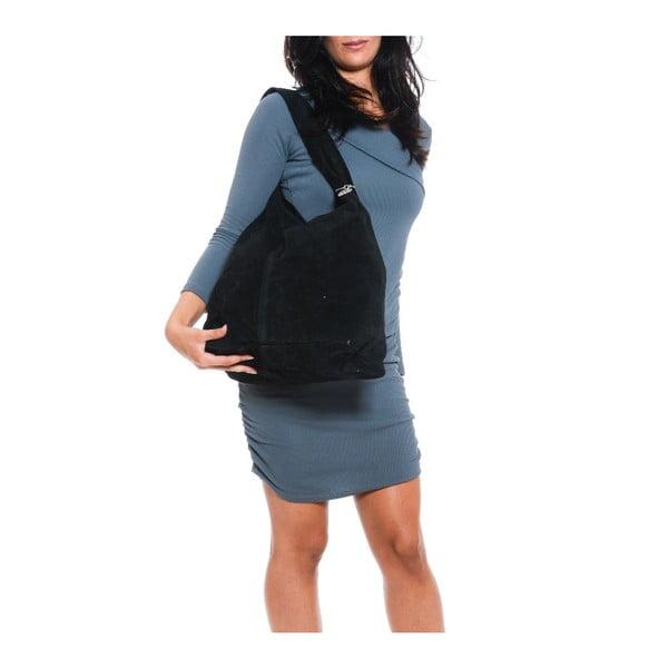 Čierna kožená kabelka Isabella Rhea 885