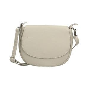 Sivá kožená kabelka Chicca Borse Rosso